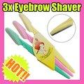 Одноразовые брови бритва триммер для бровей shaper дорожный набор красивая удаления волос макияж инструменты 3 шт./компл.