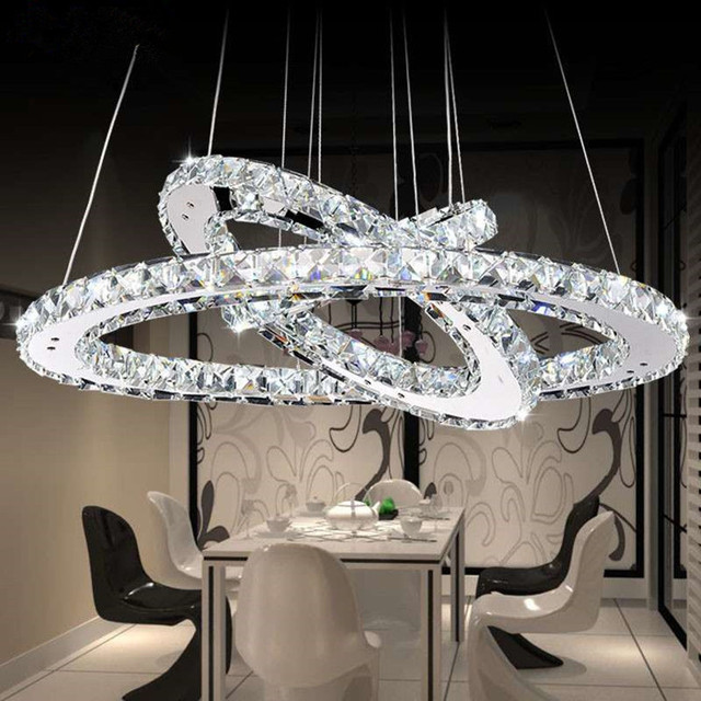 Crystal Chandeliers Lighting Home Fixtures Ring Led Chandelier Lamp Modern Lights Fixture Hanging Res