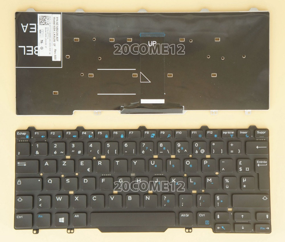 New notebook Laptop keyboard for Dell Latitude E5450 E7450 french/fr  layout brand new us keyboard for dell latitude e5450 e7450 laptop keyboard without frame laptop