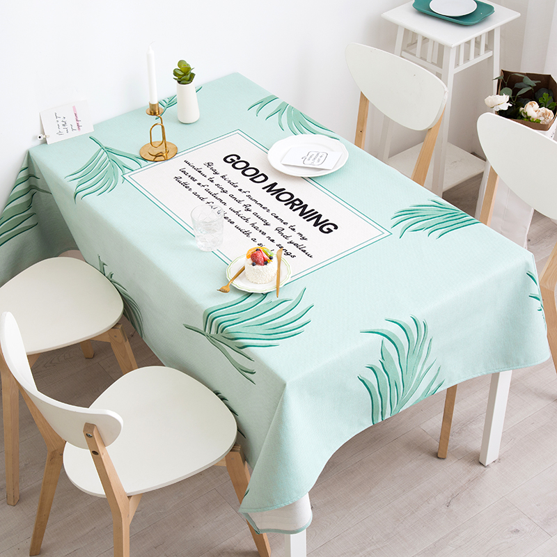 American Table Cloth Leaf Table Cover Rectangular Country Tablecloths Dining Room Restaurant Multi-table Decorative Table Cloths