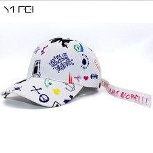 5937f437e704fb Kpop FASHION Bigbang GDRAGON New Fashion Graffiti Hat Baseball Cap HIP HOP  UNISEX Casquette Gorras Snapback