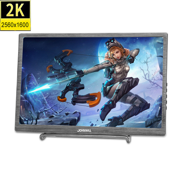 "10.1 Inch 2K Screen Portable HD Display 2560x1600 IPS LCD/LED Display HDMI/Two Type-C (USB C) 2USB Interface 15.6"" Game Monitor"