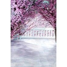 Vinyl Photography Background Dream Pink Flower Vintage Handrail Wedding Backdrops for Photo Studio S-071 elderly bathroom toilet handrail disabled barrier sitting handrail pregnant woman safe handrail