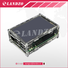 2016 Acrylic Case Compatible for Raspberry Pi 2 Pi3 Model B Original 3.5″ LCD TFT Touch Screen Display