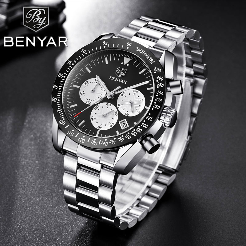 BENYAR Men's Watches Luxury Brand Men Watch Waterproof Watch Sports Watches Business Wristwatch Chronograph Relogio Masculino