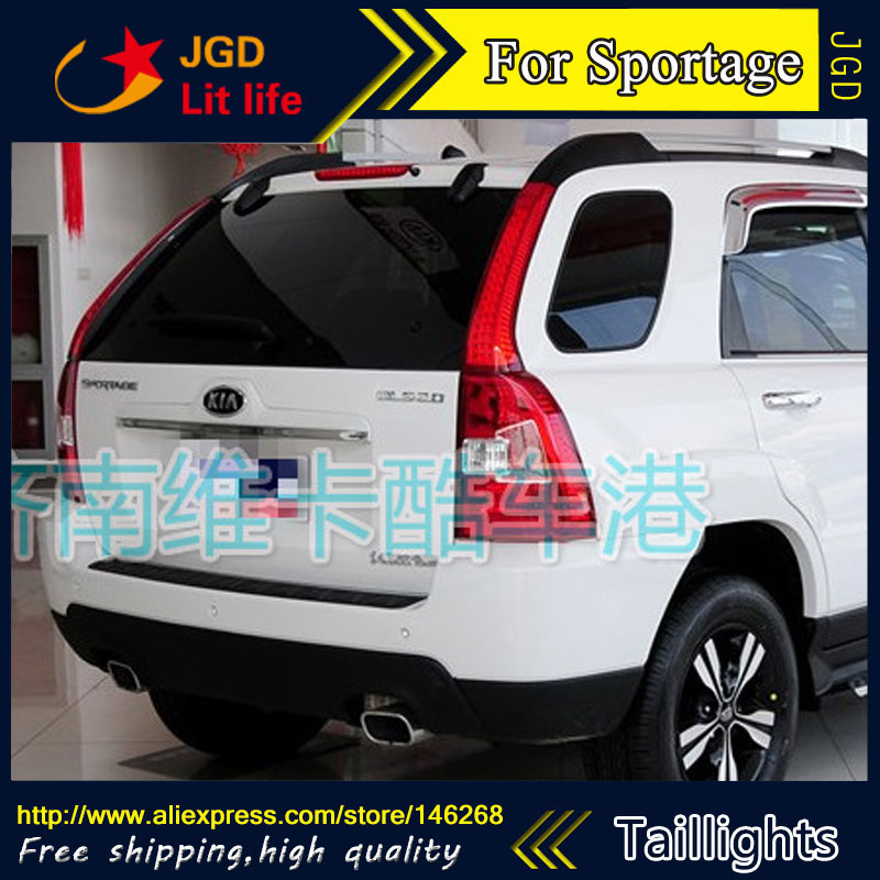 Car Styling tail lights for KIA Sporttage 2011-2015 LED Tail Lamp rear trunk lamp cover drl+signal+brake+reverse car rear trunk security shield cargo cover for volkswagen vw tiguan 2016 2017 2018 high qualit black beige auto accessories