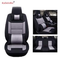 Kalaisike Flax Universal Car Seat covers for Renault all models Captur megane duster clio laguna kadjar fluence scenic Koleos