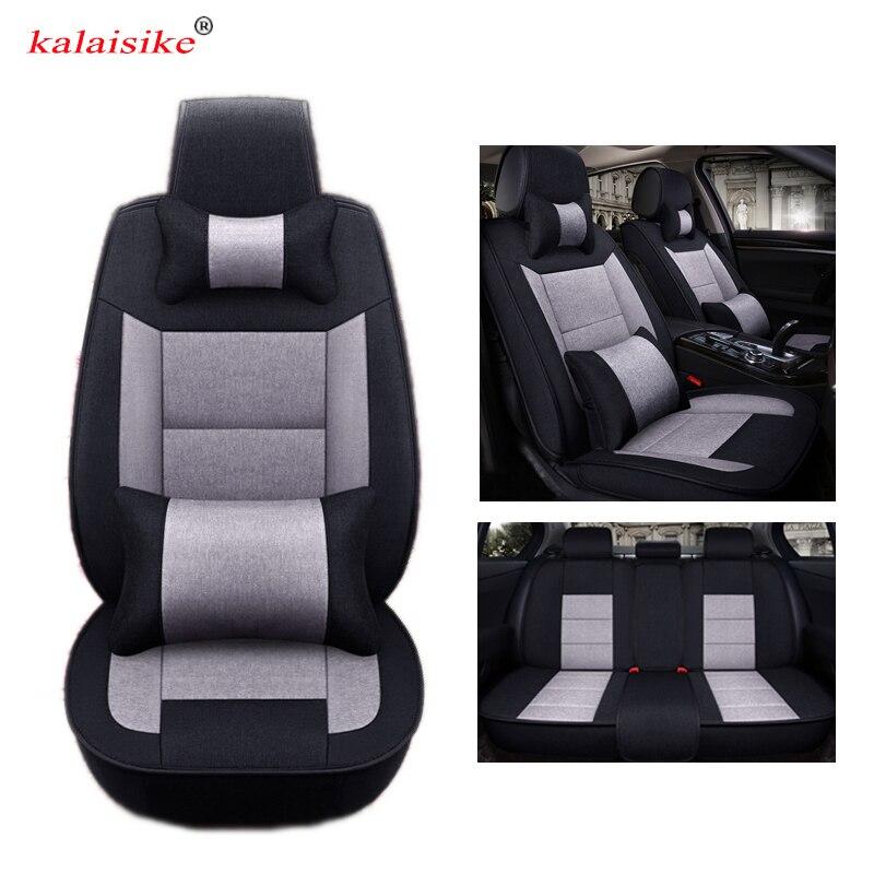 Kalaisike Lino cubiertas de asiento de coche Universal para Renault todos los modelos Captur megane duster clio laguna kadjar fluence scenic Koleos