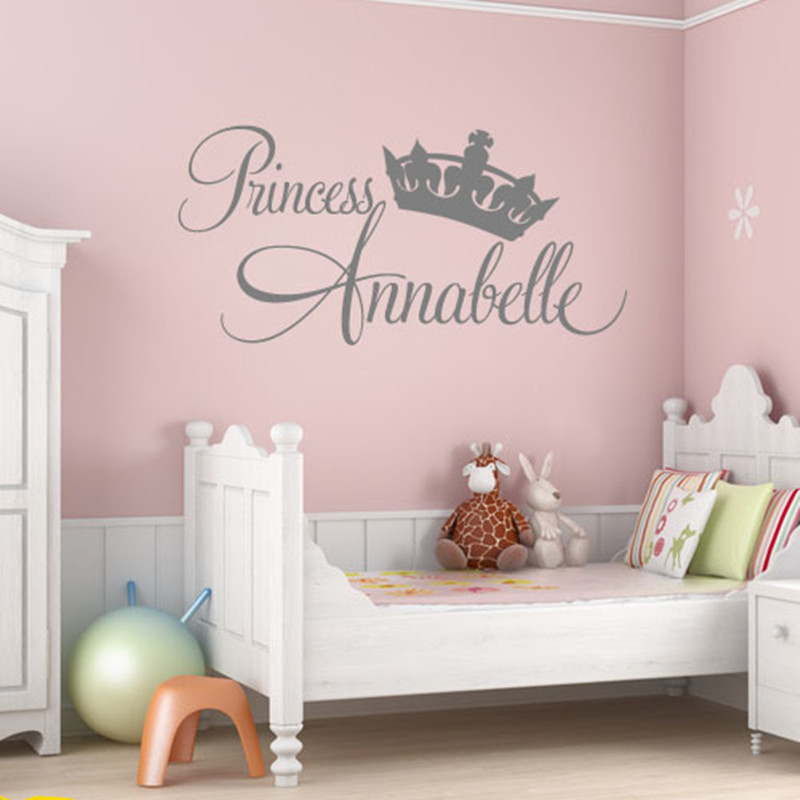 Princess Vinyl Decal Wall Sticker Words Lettering Nursery: 2017 Wall Stickers Home Decor Princess Annabelle Home Room
