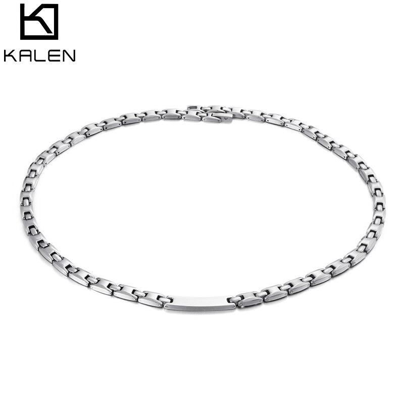 Kalen mode argent en acier inoxydable colliers pour femmes à la mode géométrique aimant lien chaînes colliers Choker femmes bijoux cadeau