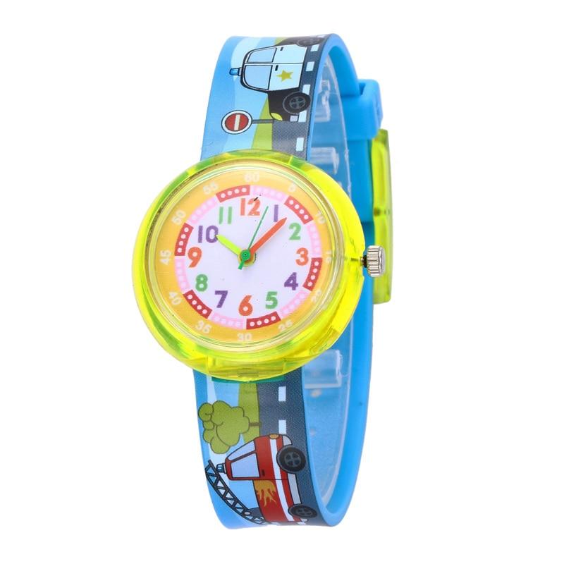 11 Designs Christmas Gift Cute Car Girl Watch Children Fashion Watch SportS Jelly Cartoon New Boy Watch Erkek Kol Saati Relogio
