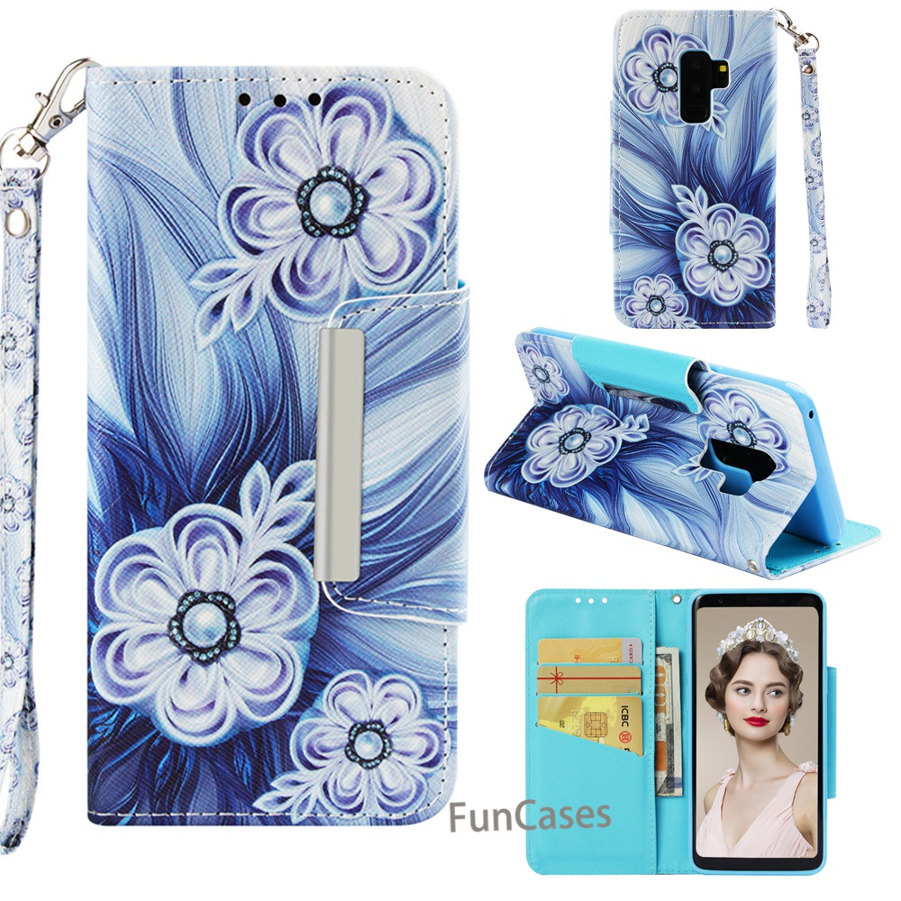 supreme case For Samsung Galaxy S9 Plus PU Leather Vintage Wallet On Hoesje For Samsung  S9+  S9 Plus Flip Magnetic Phone Cover
