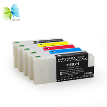 350ml Compatible Ink Cartridge Disposable T5961 T5962 T5963 T5964 T5968 For Epson 7700 9700 Printer цены