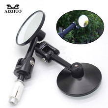 7/8 Round Motorcycle Rear View Mirrors Motorbike Handle Bar End Rear View Mirrors Black Cafe Racer Mirrior FOR YAMAHA YZF R1 R3 possbay universal motorcycle mirrors black rearview rear view mirror for harley suzuki yamaha r1 cafe racer moto espejo