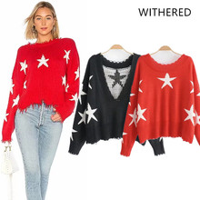 Withered 2018 BTS women sweater england style stars v-neck ripper regular  panelled fashion sweater b9c80edbcf1a