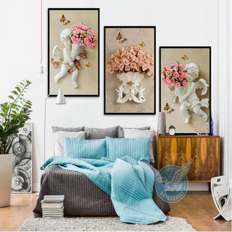 Lukisan Kanvas 3d Deer Minyak Mewarnai Dinding Gambar Untuk Ruang