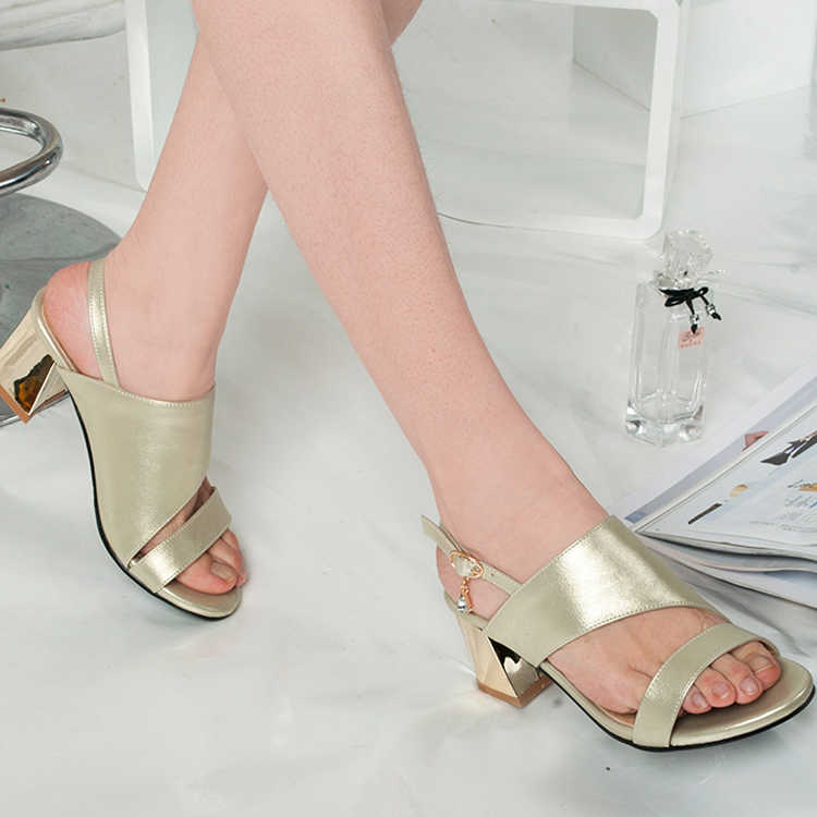 thick heel and shallow buckle
