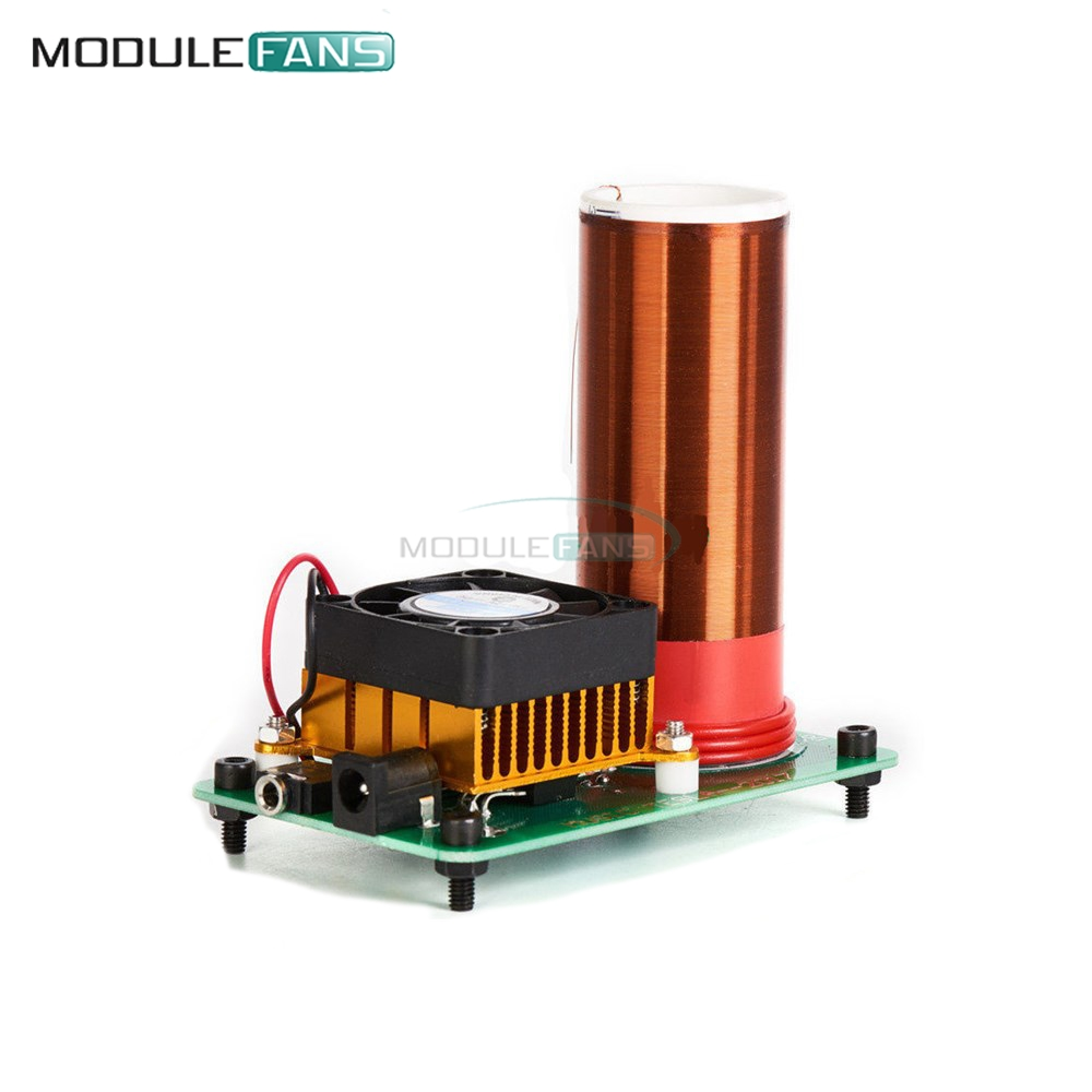 Active Components Mini Wireless Music Musical Coil Loud Speaker Tesla Power Magic Board Diy Kit Toy Jx03 Module Under 20v Heat Sink Fan