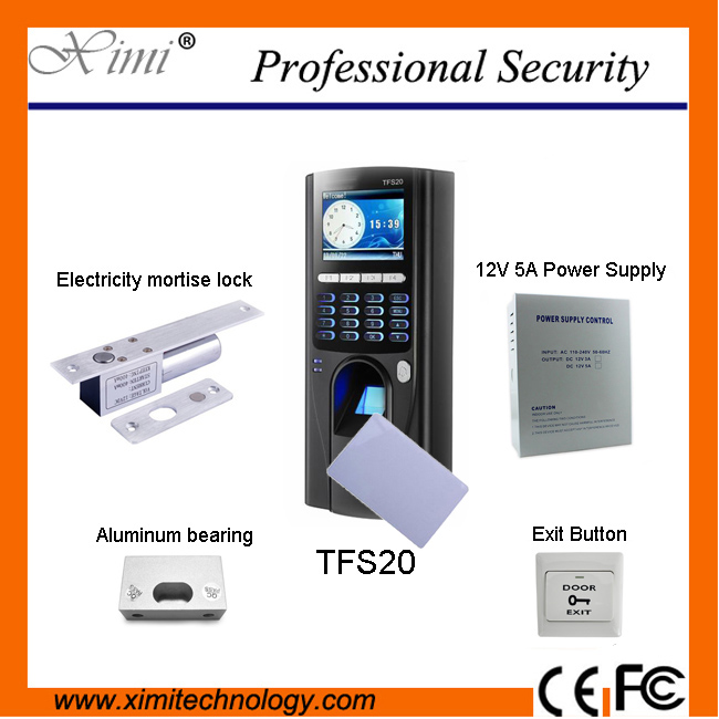 TFS20 biometric fingerprint access control system using Mifare has TCP/IP, RS485 communications and independent controllers