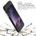 Silicio delgado 360 grados i6 i6s i7 más cobertura completa de lujo case para iphone6 6 s 7 más coque cubierta cinco colores negro concha blanda