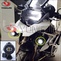 Recentes 1 pair Motocicleta Luz de Nevoeiro Da Frente lâmpadas Luzes de advertência de Segurança Serve Para BMW R1200GS ADV segura Frete Grátis