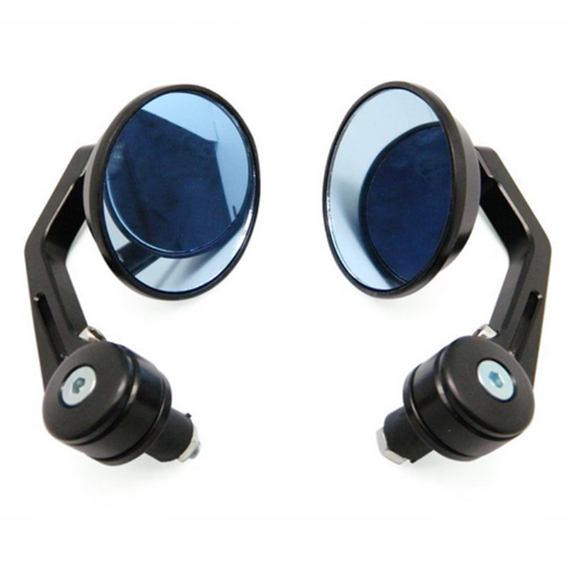 EE support Motorcycle Accessories Aluminum Alloy Motor Side Mirrors 22mm ~ 25mm Handlebar End Motocycle Mirror Black XY01