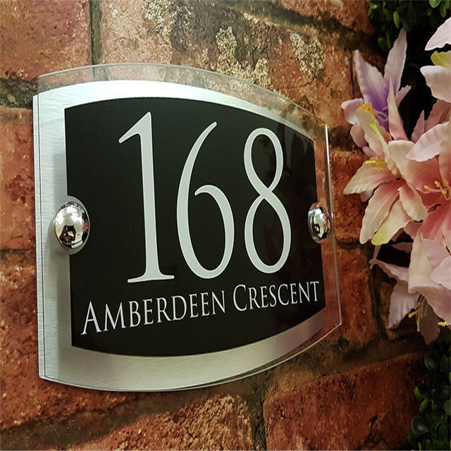 87cbd223cb2e Contemporary House Signs Plaques Door Numbers 1 - 999 Personalised Name  Plate
