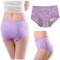 Women Girl Intimates Physiological Panties Menstrual Sanitary Period Leak Proof Jacquard Seamless Panty Underwear Plus Size