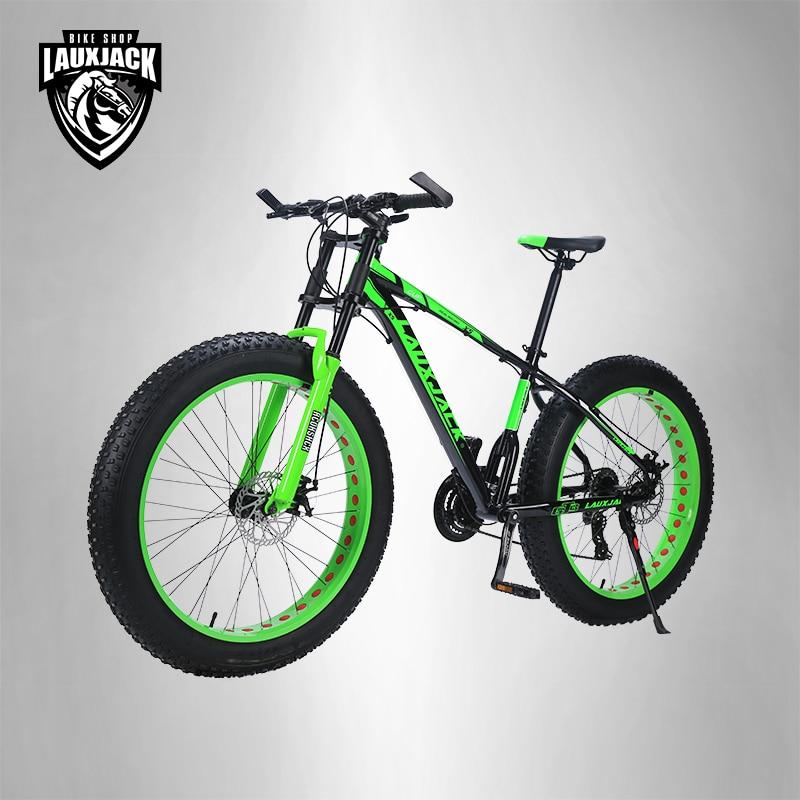 LAUXJACK bicicleta de montaña marco de aluminio 24 velocidad Shimano ...