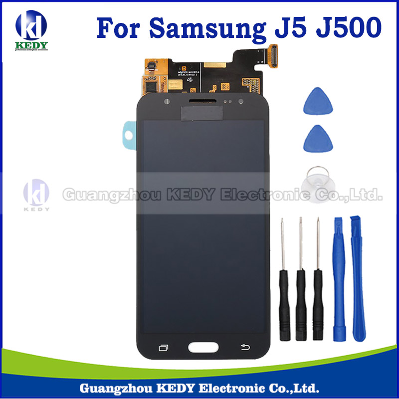 ФОТО 1pcs High Copy For Samsung Galaxy J5 J500 J500F J500M LCD Display with Touch Screen Digitizer assembly+tool 20pin
