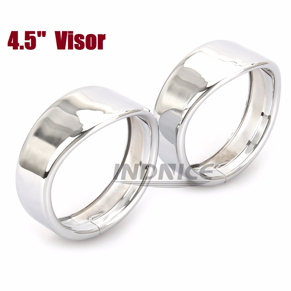 CHROME 4.5 inch Auxiliary Lamp Visor street glide Passing Lamp Trim Ring Harley Motorcycle Accessories 4 1/2 inch Visor StyleCHROME 4.5 inch Auxiliary Lamp Visor street glide Passing Lamp Trim Ring Harley Motorcycle Accessories 4 1/2 inch Visor Style
