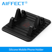 AIFFECT Car Phone Holder Silicone Mobile Phone Holder Mount Stand Desk Bracket Support GPS For iPhone 7 6 Plus Samsung Xiaomi