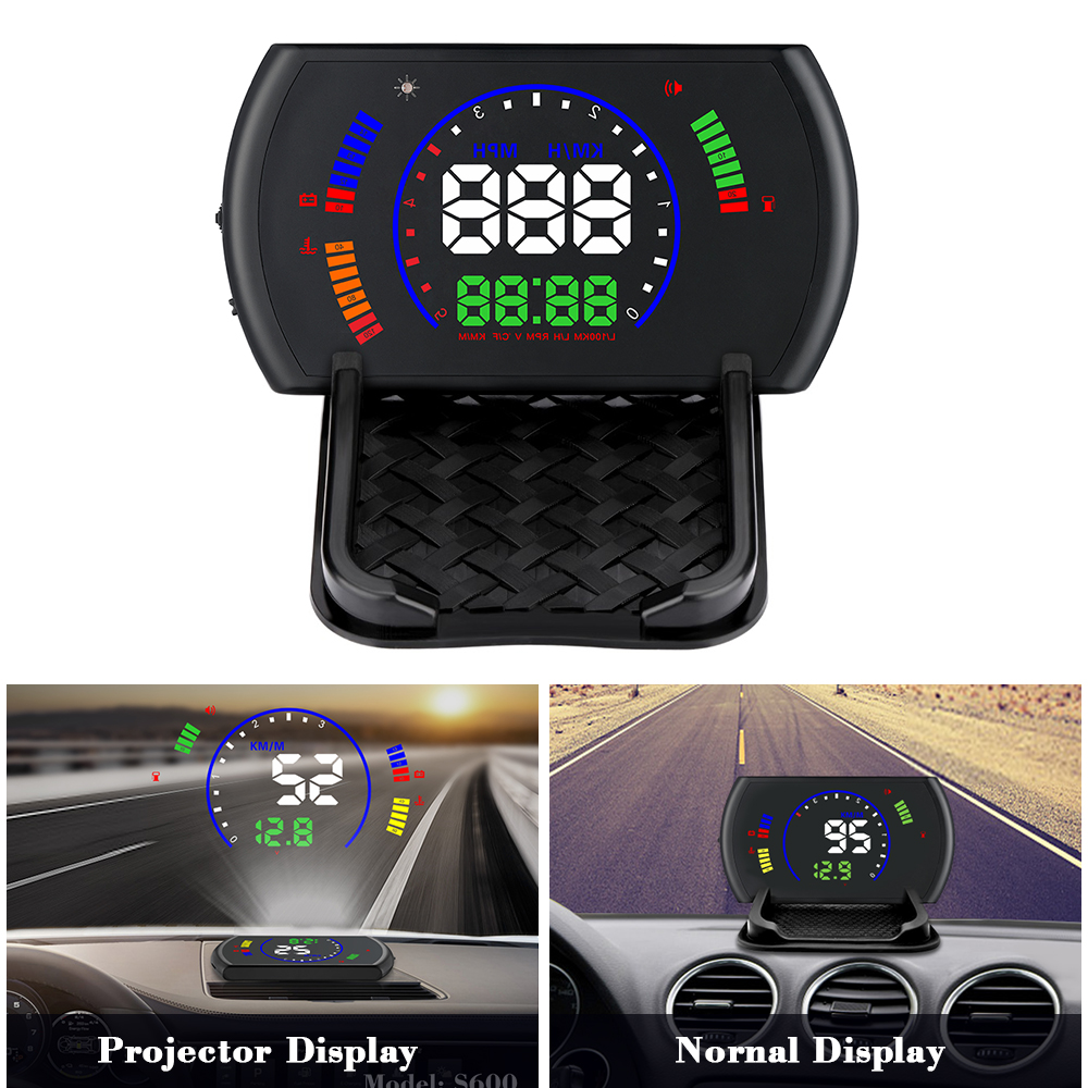 Image 3 - OBDHUD S600 Head Up Display Car  Speed Windshield Projecto OBD Interface HUD RPM Voltage Water Temperature Fuel Cosumption-in Head-up Display from Automobiles & Motorcycles