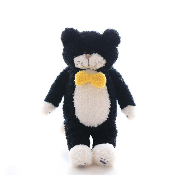 Super Cute Plush Toy Tiimo Lovely Scarf Black Cat Calico Cat Kitten
