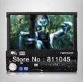 2015 NOVO 12 V 1 Din Carro mp4 mp5 Player de Vídeo Estéreo FM Rádio Audio do carro tela de 7 ''TFT HD tela Retrátil Suporte câmera traseira