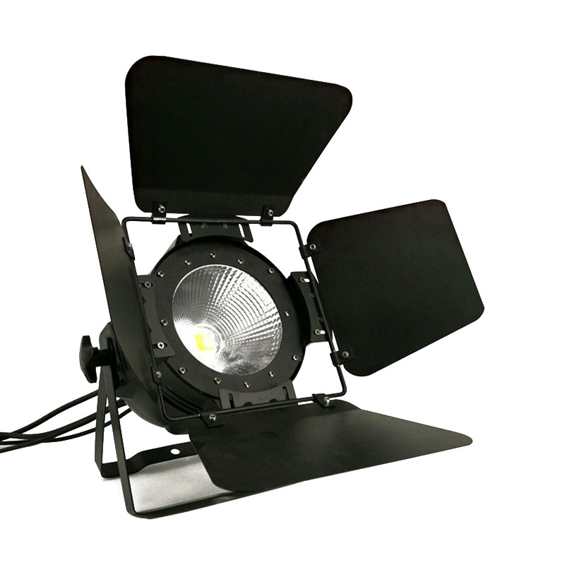 LED Par COB 200W With Barn Doors High Power Aluminium Case Stage Lighting with 200W COB RGBWA+UV 6in1 ,cool white and warm white free shipping 4pcs lot 200w 6in1 rgbwa uv cob led par light black with barndoor with dj stage dmx cob led par lighting