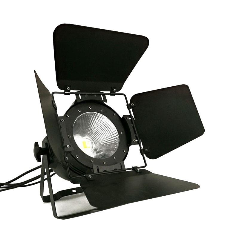 LED Par COB 200 w Avec Grange Portes Haute Puissance Boîtier En Aluminium Éclairage de Scène avec 200 w COB RGBWA + UV 6in1, blanc froid et blanc chaud