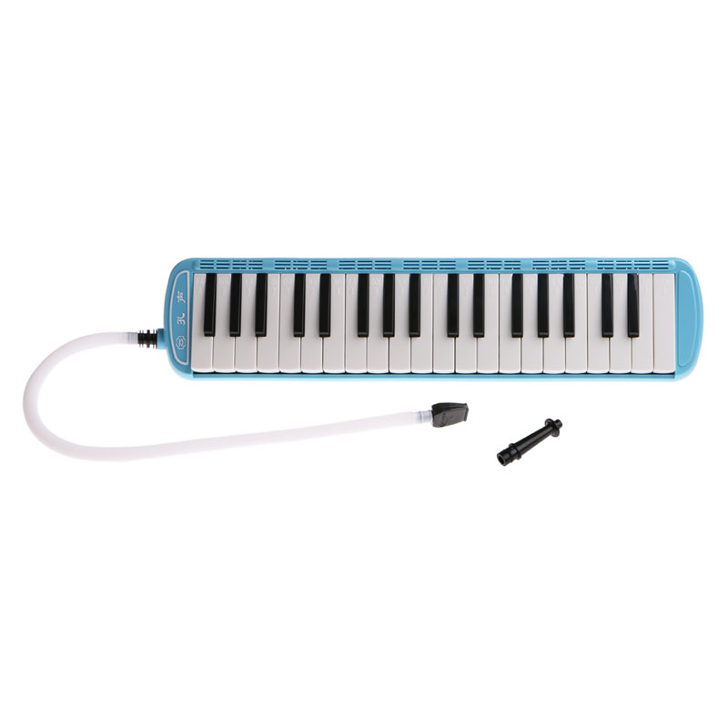 jelly New 37 Keys Plastic Melodica Piano Keyboard Mouthpiece Music Instrument + Bag Blue Wind Woodwind Folk  World Melodicas