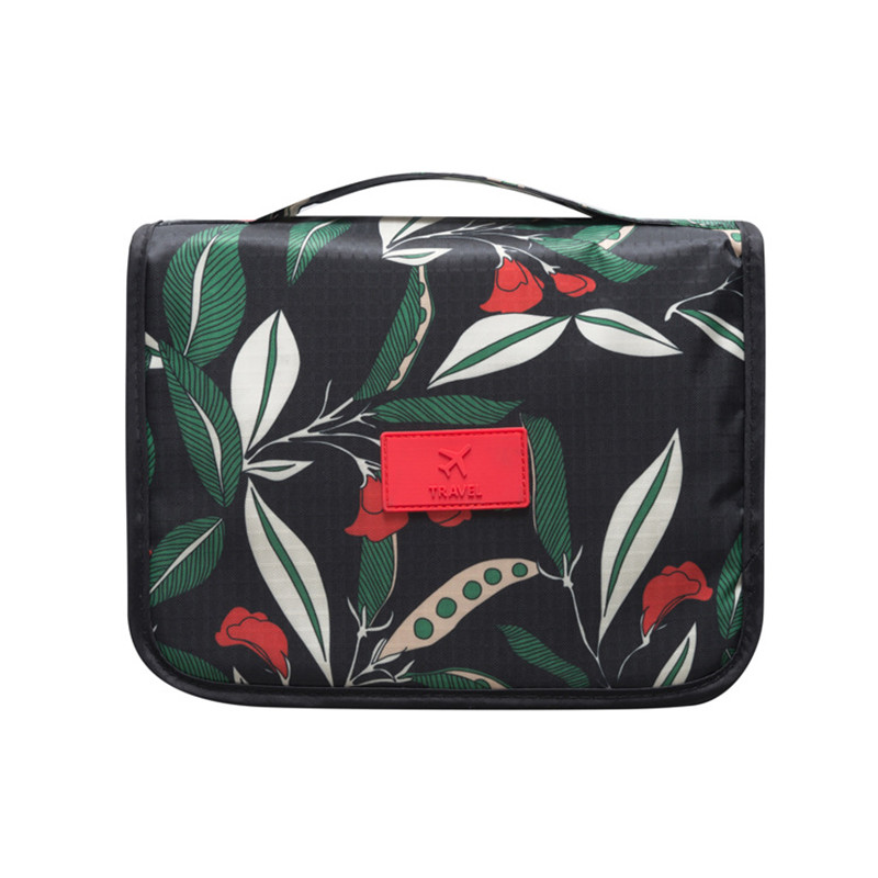 floral pattern travel toiletry bag women hanging cosmetic bag makeup organizer portable men wash bag