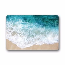 Waves on the Beach Rectangular Decorative non slip Doormat 15.7 by 23.6 3/16-Inch