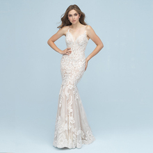 HIRE LNYER Vestido De Novia Backless Mermaid Wedding Dress
