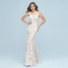 HIRE LNYER Vestido De Novia Backless Mermaid Wedding Dress