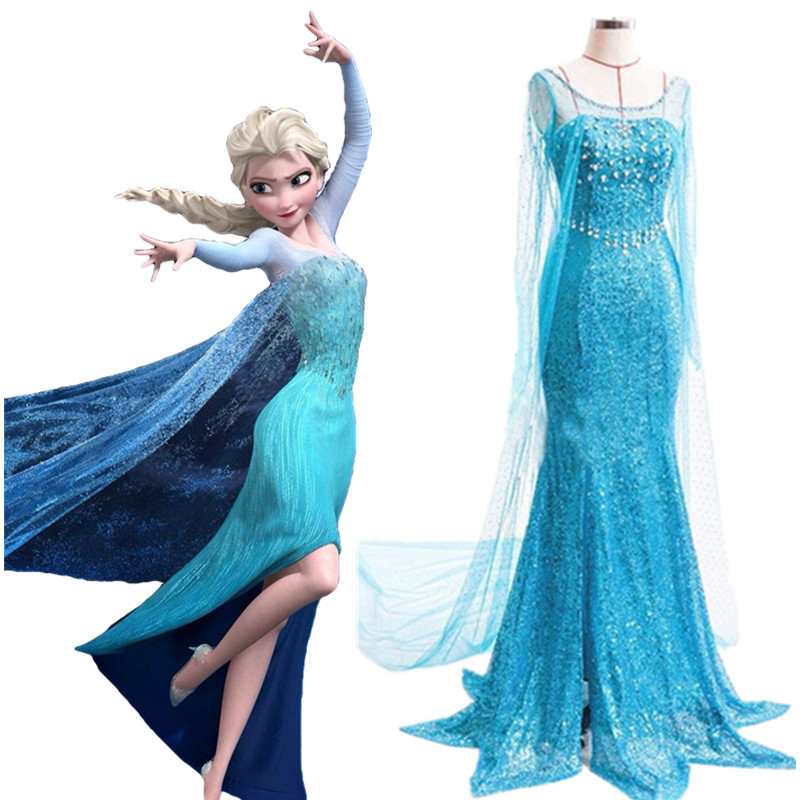 Carnival Woman Christmas party cosplay elsa princess dress princess elsa costume adult princess elsa halloween women costume