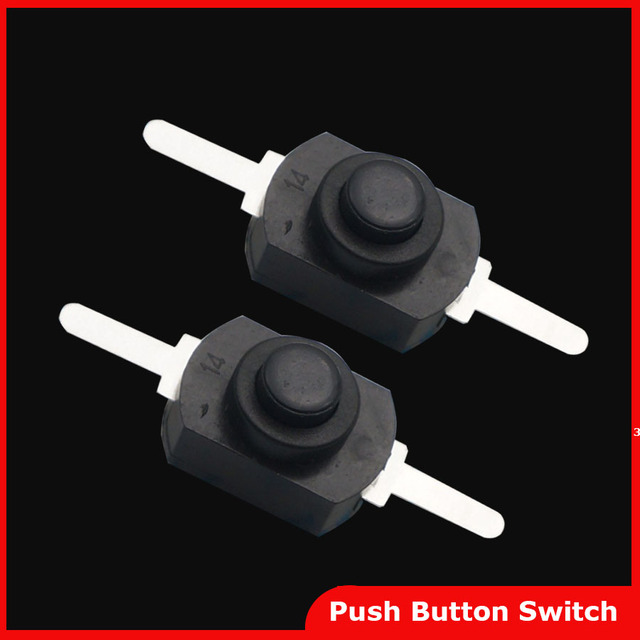 Free shipping 50pcs DC 30V 1A Black On Off Mini Push Button Switch for Electric Torch