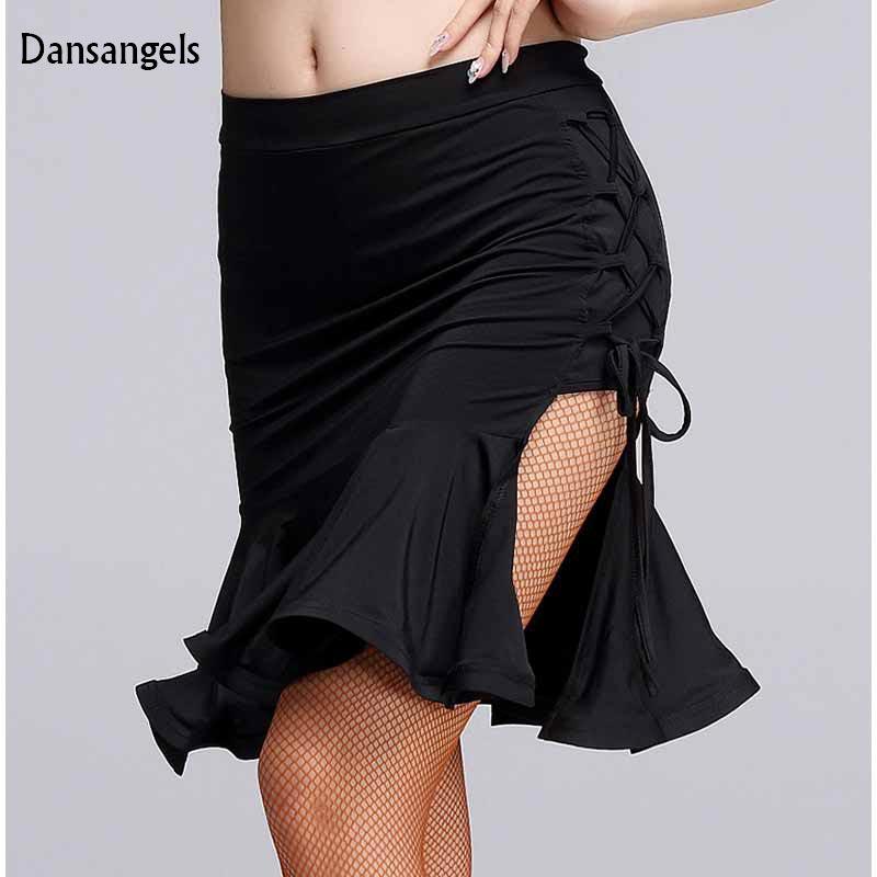 68b9b4f36 Dansangels Nueva Irregular placketing sexy Falda de Baile Latino para Mujer  Mujer muchacha la señora