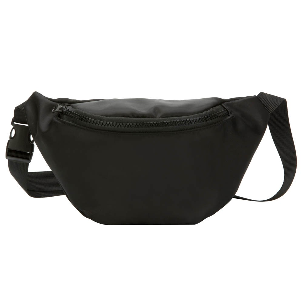 ISHOWTIENDA Fanny Pack Women Waist Bag Hip Bag Travel Bum Bag Hengreda Men Waistbag Belt Zipper Pouch Bags Black #20L(China)