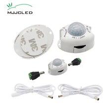 Motion Sensor Light 5V 12V PIR Motion Sensor DC การเคลื่อนไหวเครื่องตรวจจับเปิดใช้งาน TIMER อัตโนมัติสวิทช์ ON OFF สำหรับ LED Strip
