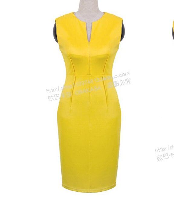 Vestido amarillo corto casual