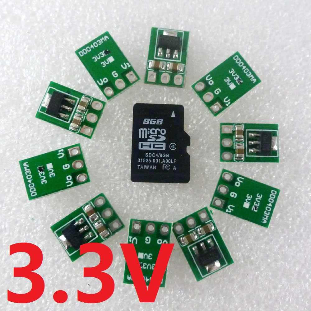 10x Ultra-Light Mini Dc 3.5-5V Tot 3.3V DC-DC Converter Step Down Buck Regulator Ldo module Voor AMS1117 18650 Li-Ion Esp8266