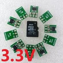 10x ultra-leve mini dc 3.5-5v a 3.3v DC-DC conversor step down buck regulador módulo ldo para ams1117 18650 li-ion esp8266